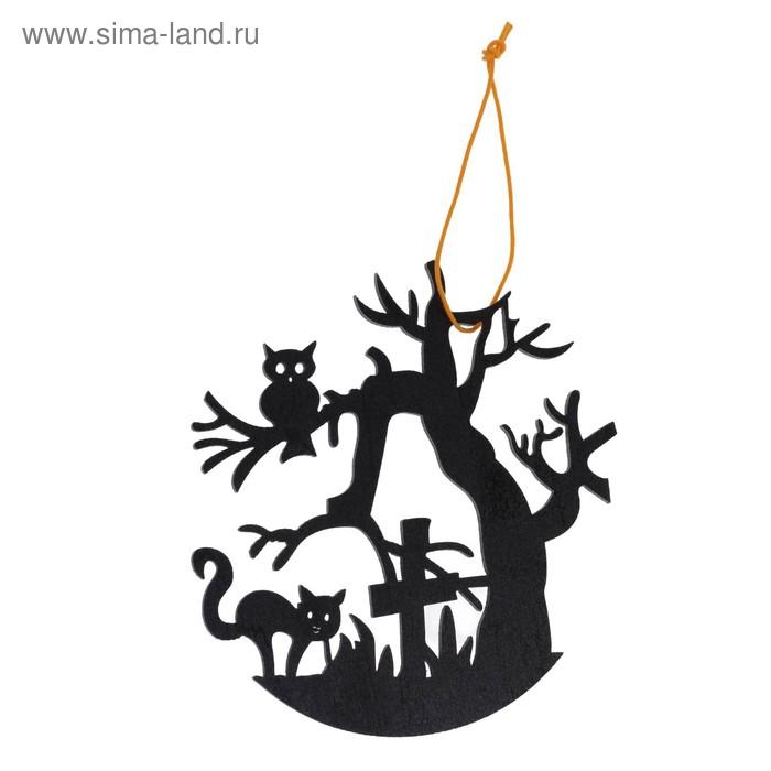 """Подвеска резная """"Ночь на кладбище"""""""