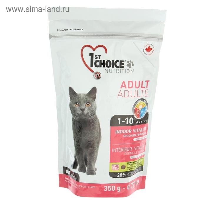 Сухой корм для домашних кошек 1st CHOICE Vitality цыпленок, 350 г