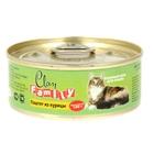 Влажный корм CLAN  FAMILY для кошек, паштет из курицы, ж/б, 100 г