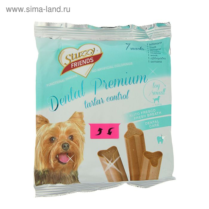 STUZZY FRIENDS Dental Premium 7 палочек для собак до 12 кг, 110 г