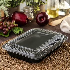 Контейнер одноразовый для суши 24×19×5 см, 1,74 л, 50 шт/уп, цвет чёрный