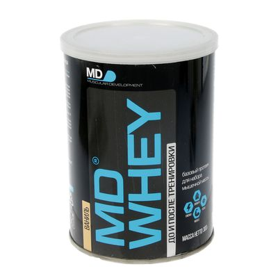Протеин MD Whey 60% ультрафильтрационный концентрат сывороточного белка, ваниль, 300 г