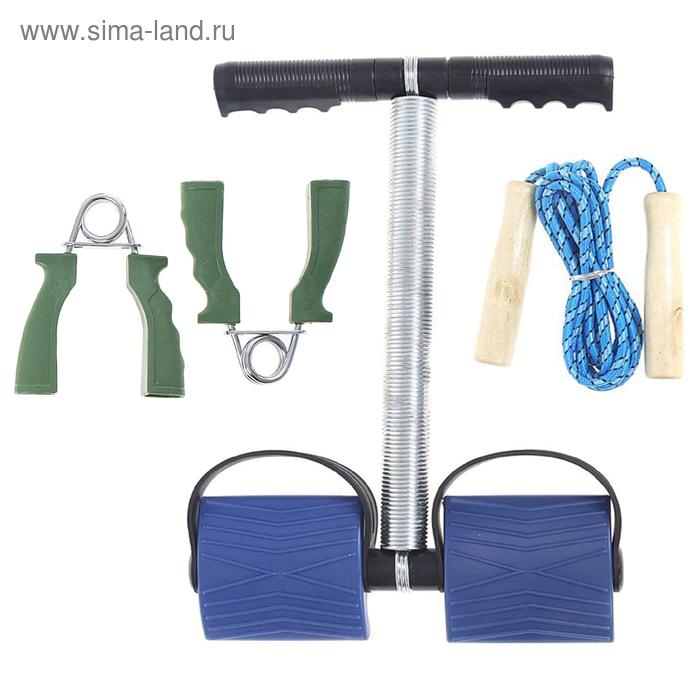 Набор фитнес 3 в1 (эспандер кистев,для пресса, скакалка) SL3003 цвета МИКС в пакете