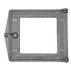 Дверка топочная ДТ-3С Рубцовск 291х230х70 мм, крашеная, со стеклом, термошнур