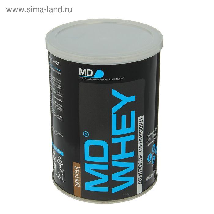 Протеин MD Whey 60% ультрафильтрационный концентрат сывороточного белка, шоколад, 300 г