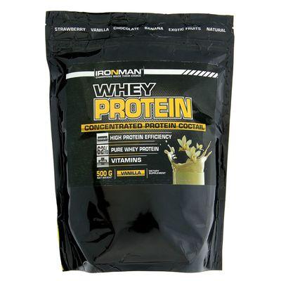 Протеин сывороточный Ironman, ваниль, 500 г