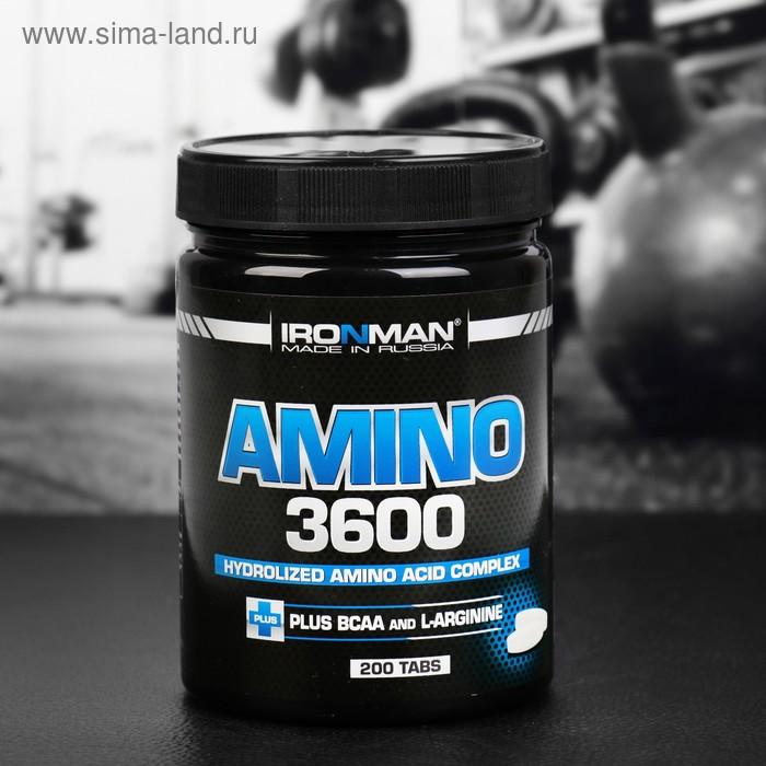 Аминокислоты Ironman Amino 3600, 200 таблеток