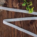 Кружево вязаное, 12мм, 15±1м, цвет белый