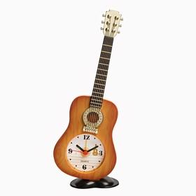"""Будильник """"Гитара"""", дискретный ход, 21.5 х 8.5 см"""