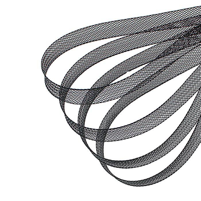 Регилин плоский, 10мм, 45±1м, цвет чёрный