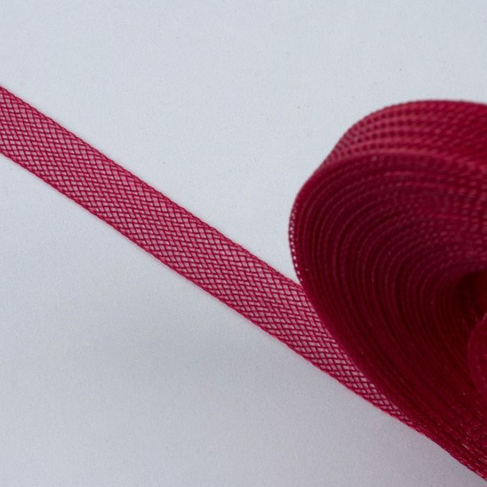 Регилин плоский, 10 мм, 45 ± 1 м, цвет бордовый