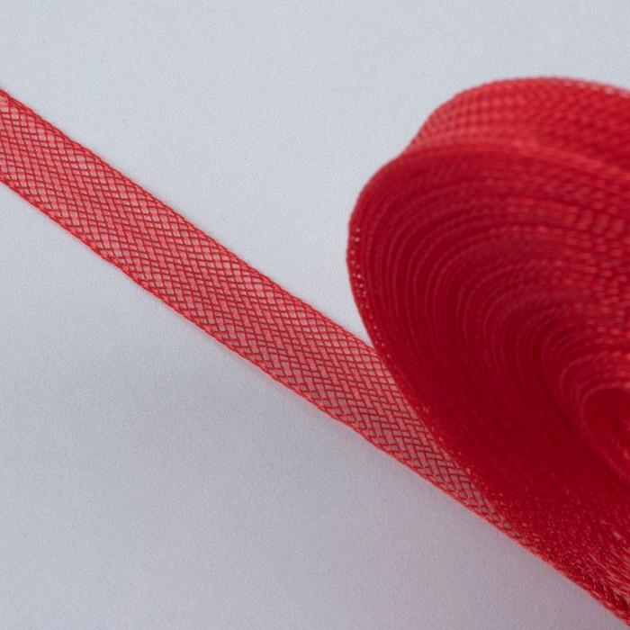 Регилин плоский, 10 мм, 45 ± 1 м, цвет красный