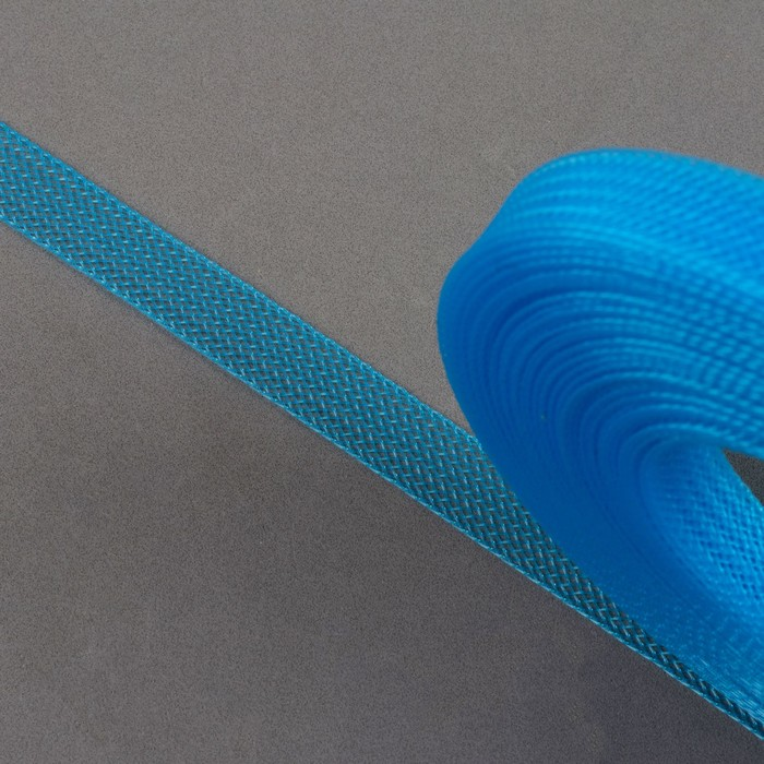 Регилин плоский, 10мм, 45±1м, цвет голубой