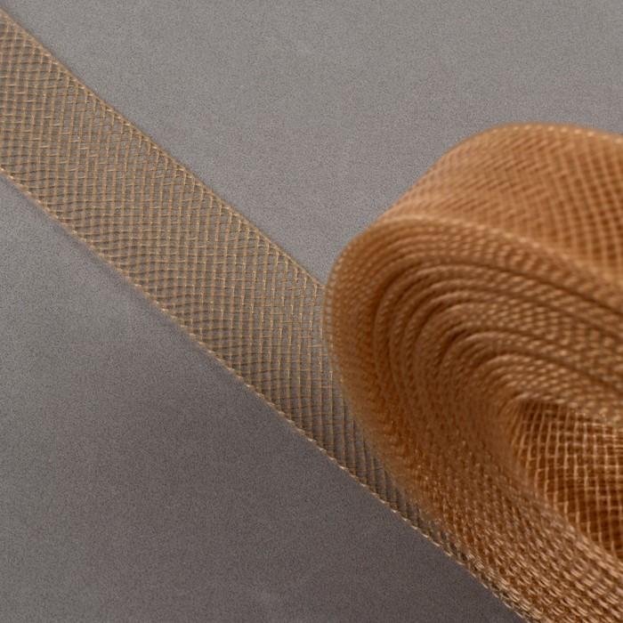 Регилин плоский, 20 мм, 45 ± 1 м, цвет светло-коричневый