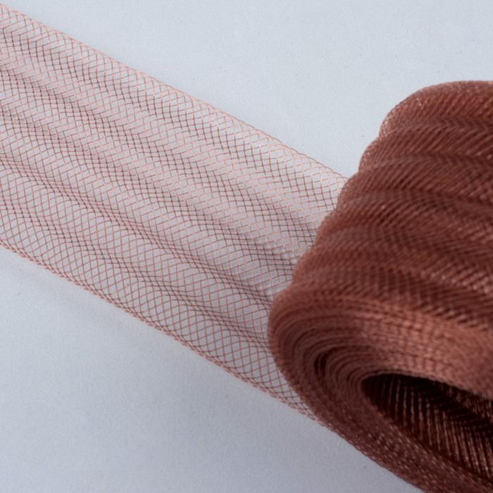 Регилин плоский, гофрированный, 44 мм, 20 ± 1 м, цвет коричневый