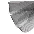 Регилин плоский, гофрированный, 70мм, 20±1м, цвет чёрный