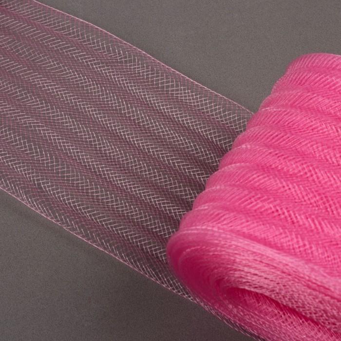 Регилин плоский, гофрированный, 70мм, 20±1м, цвет розовый