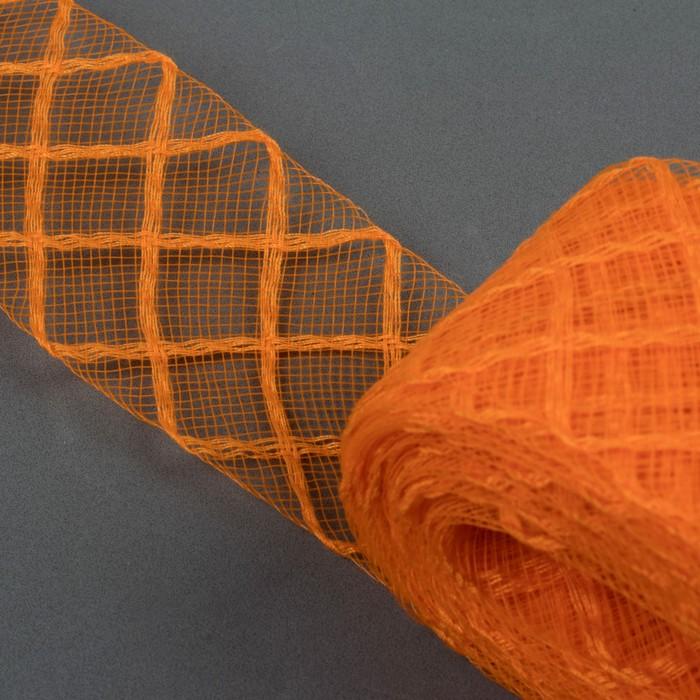 Регилин плоский «Клетка», 45 мм, 22 ± 1 м, цвет оранжевый