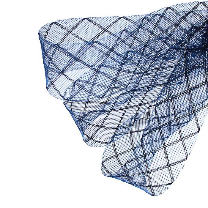 """Регилин плоский """"Клетка"""", 45мм, 22±1м, цвет синий"""