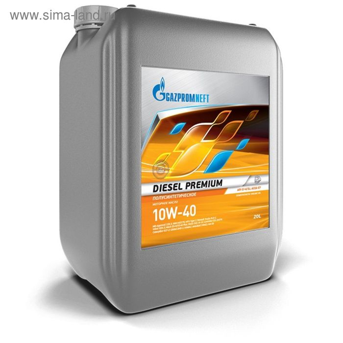 Моторное масло Gazpromneft Diesel Premium 10W-40, 20 л