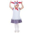 """Карнавальный костюм для девочки от 1,5-3-х лет """"Овечка с бантом"""", велюр, сарафан, шапка"""