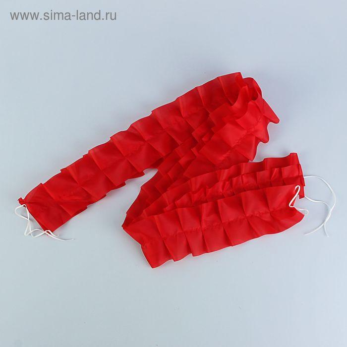 Комплект украшений на капот Двойной рюш из лент красный