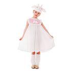 """Карнавальный костюм """"Овечка"""", сарафан из плюша, гетры, шапка, р-р 56, рост 98-104 см"""