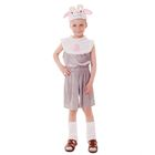 """Карнавальный костюм """"Барашек"""", комбинезон из плюша, шапка, р-р 56, рост 98-104 см"""