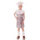"""Карнавальный костюм """"Барашек"""", комбинезон из плюша, шапка, р-р 60, рост 110-116 см"""