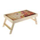 """Столик-поднос """"Яблоки"""", деревянная поверхность 50х30см"""