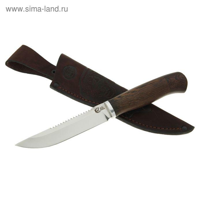 """Нож нескладной """"Судак"""", кованная сталь 95х18, рукоять-венге, литье"""