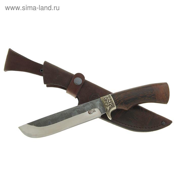 """Нож нескладной """"Варяг"""",кованная  сталь 95х18 со следами ковки, рукоять-венге, литье"""