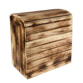 """Сундук деревянный """"Глобус"""", 55×35×57см, обозжённый, """"Добропаровъ"""""""