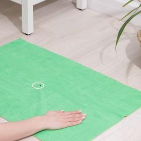 Салфетка из микрофибры, с отверстием для швабры, 250 г/м2, цвет зелёный