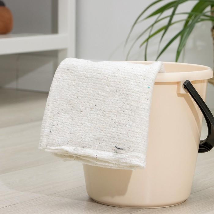 Тряпка для мытья полов, ХПП, 60х80 см, плотность 200 г/м2, оверлок