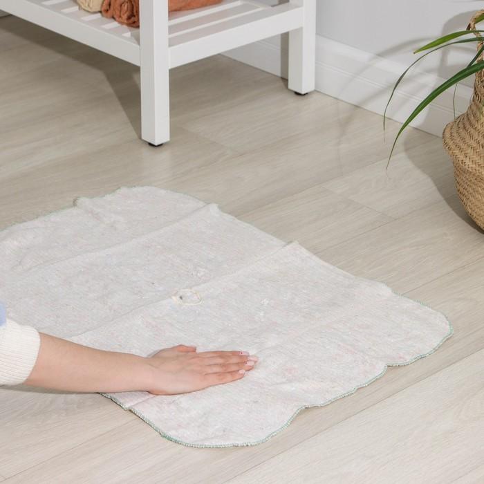 Тряпка для мытья полов, плотность 200 г/м2, с отверстием для швабры