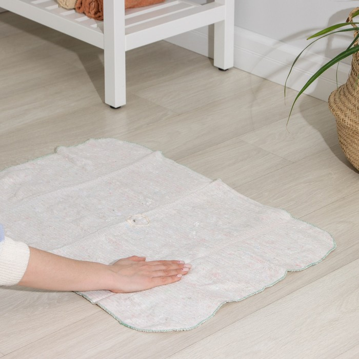 Тряпка для мытья полов, ХПП, 60х80 см, плотность 200 г/м2, с отверстием для швабры
