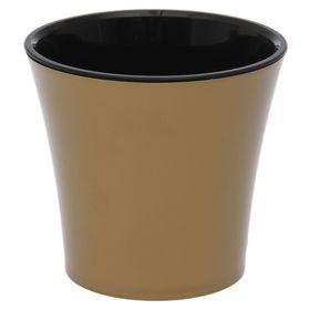 Горшок 600 мл 'Арте', цвет золотой-черный Ош