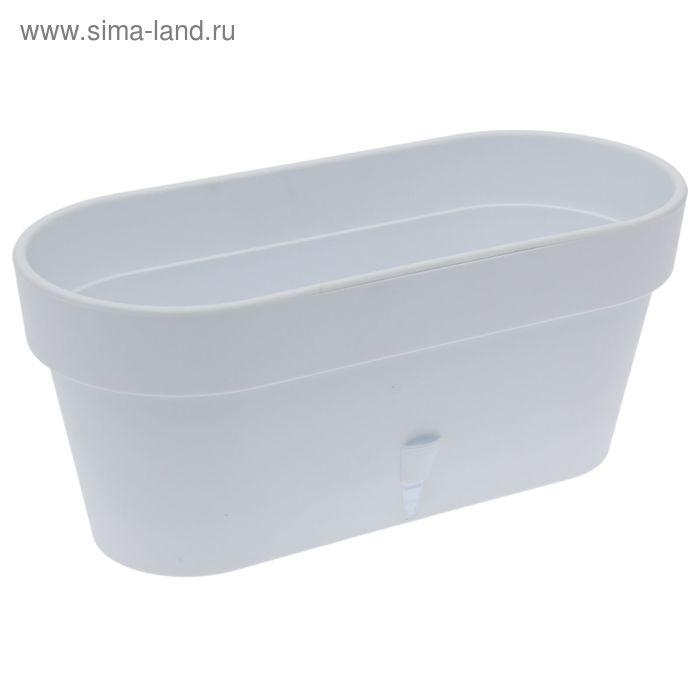 Горшок 6,7 л Latina Window Box, цвет белый