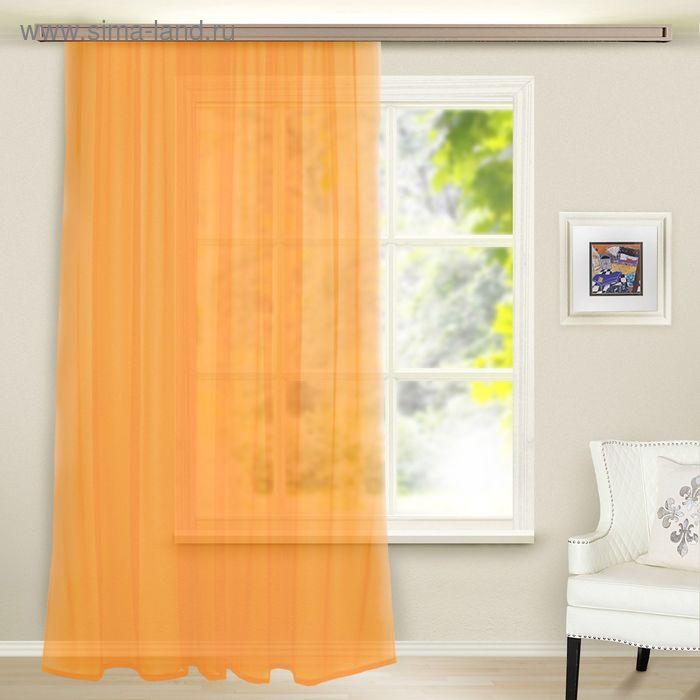 Штора вуаль, ширина 300 см, высота 260 см, цвет светло-оранжевый