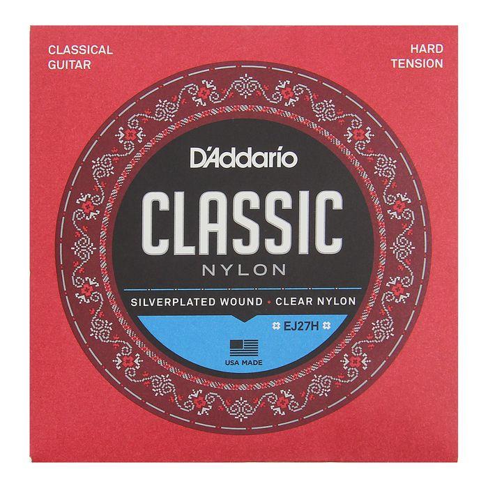 Струны D`Addario для классической гитары нейлоновые Student Hard