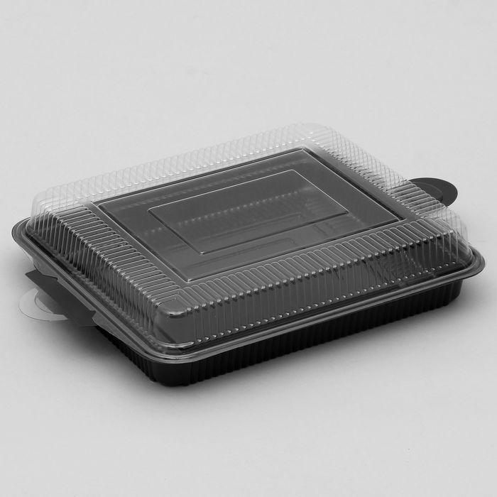 Контейнер с крышкой 41х28х7 см, цвет черный