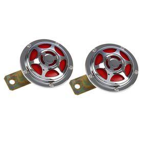 Automotive AVS Electric 1021, 12 V, 335/435 Hz, 115 dB, D = 90 mm, set 2 pcs.