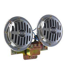 Сигнал автомобильный AVS Electric 1052, 12 В, 335/435 Гц, 120 Дб, d=125 мм, набор 2 шт.