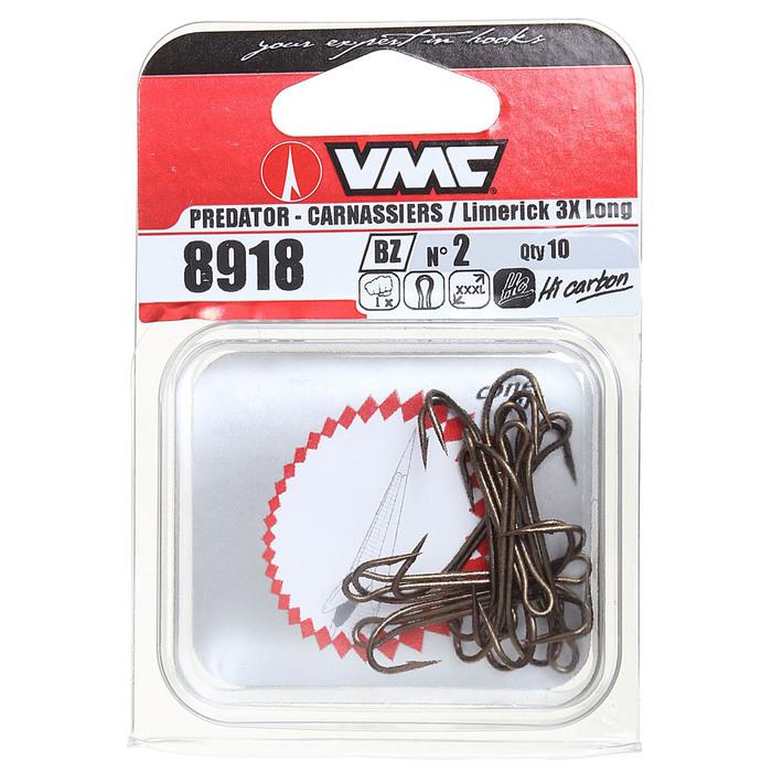 Крючки двойные VMC 8918 BZ № 2, набор 10 шт