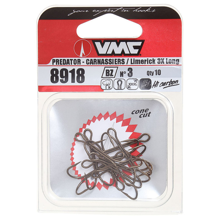 Крючки двойные VMC 8918 BZ № 3, набор 10 шт.