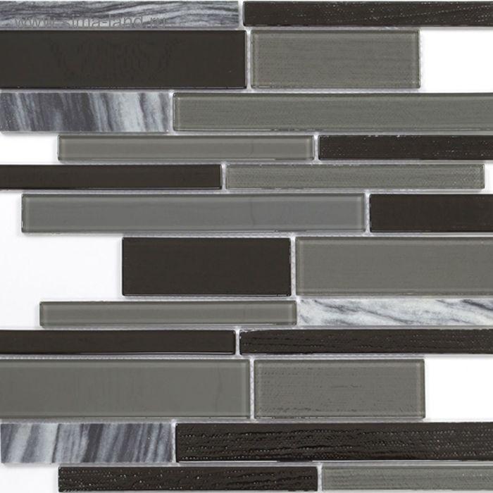 Mозаика стеклянная Elada Mosaic N27,мраморный long size Crystal+Stone, 286х298х4мм
