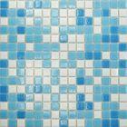 Mозаика стеклянная Elada Mosaic МСD002Р, бело-голубая на бумаге, 327х327х4 мм