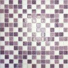 Mозаика стеклянная Elada Mosaic MC110, бело-сиреневая, 327х327х4 мм