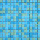 Mозаика стеклянная Elada Mosaic MCD003, сине-зелёная, 327х327х4 мм